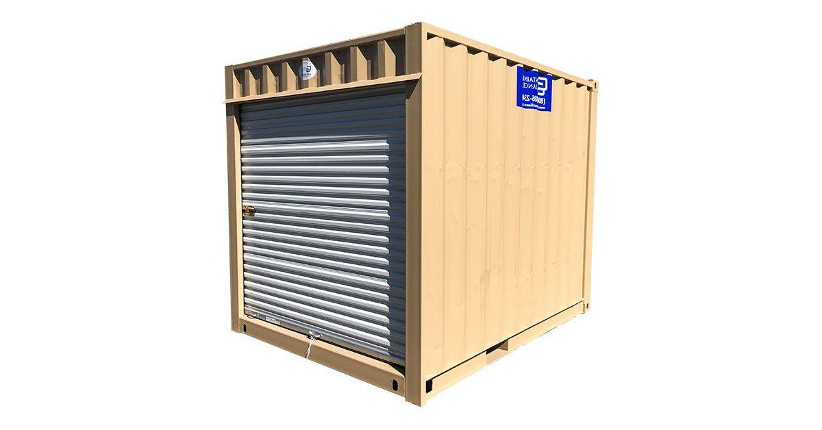 10' Standard Container W/ Roll Up Door - Refurbished