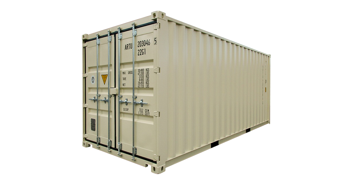 20' Standard Container - One Trip