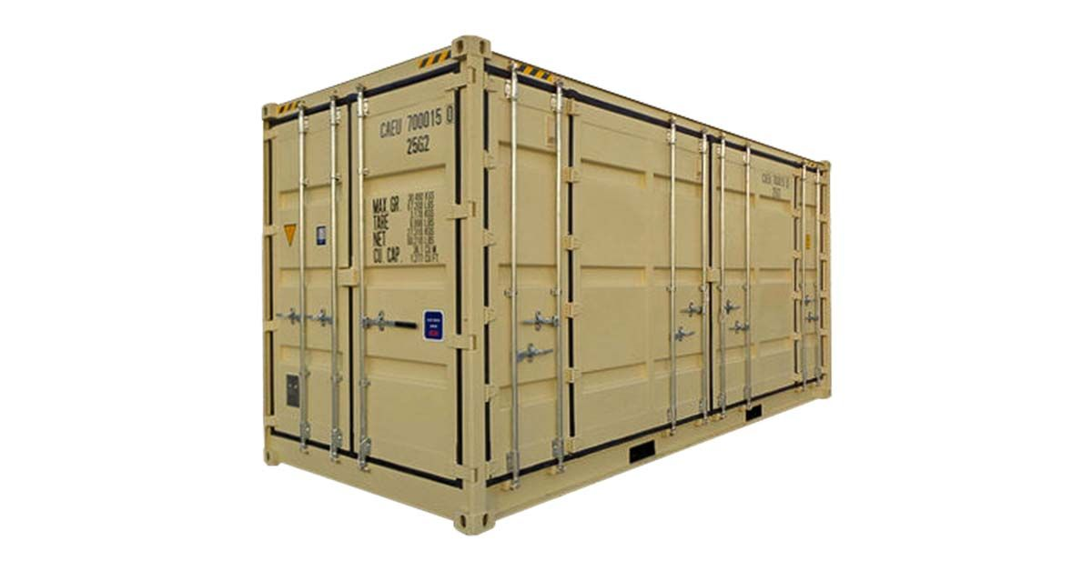 20' High Cube Open Side Container - One Trip