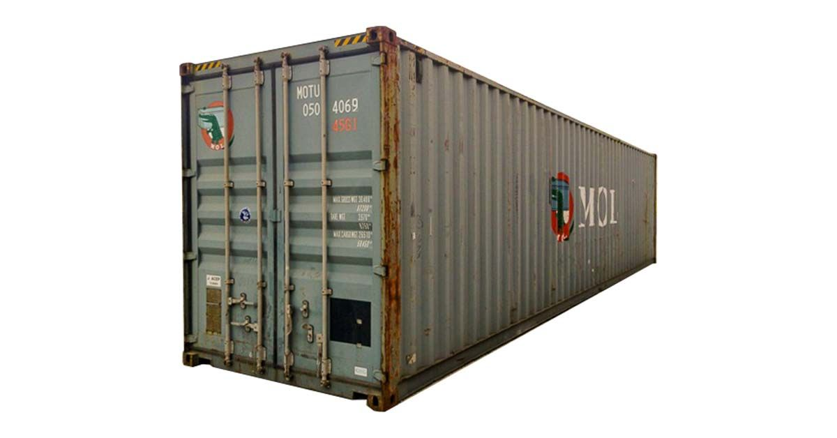 40' High Cube Container - Wind And Water Tight
